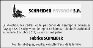 Hommages - Pour que son souvenir demeure: Fabrice SCHNEIDER