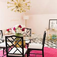pink black white office black. Pink And Black Office With Hot Rug White