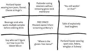 maine restaurant behavior bingo marcy s diner portland maine restaurant mini bingo