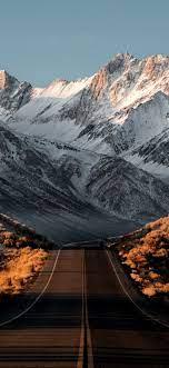 1125x2436 Beautiful Snowy Mountains ...