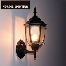 nordic lighting. Modern Black S Size Industrial Outdoor Wall Light (ND-APH-5018-6GR Nordic Lighting