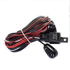 amazon com 12v 40a relay wiring harness work fog light bar kit on repco spotlight wiring harness 12v 40a relay wiring harness work fog light bar kit on off switch control led
