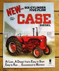 case 500 sel tin sign metal vtg tractor poster wall decor farm scene art 1169