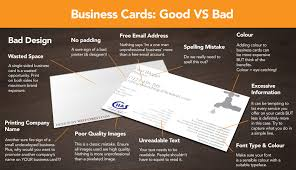 Good Business Card Design Infographic Good Business Card Design Vs Bad Xpand Marketing