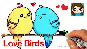 cute love bird drawing. Wonderful Bird How To Draw Cartoon Love Birds Easy In Cute Bird Drawing O