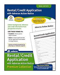 Rental Credit Application Adams Rental And Credit Application Forms Pack 8 5 X 11 Inch White Lf213p