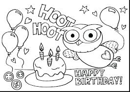 Birthday Coloring Pages Printable Anime Coloring Pages Printable
