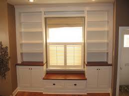built in around window with bench seat create toy storage