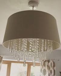 laura ashley juliet mocha droplets pendant lampshade