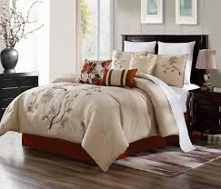 brenda 7 piece comforter set cotton touch oversized embroide