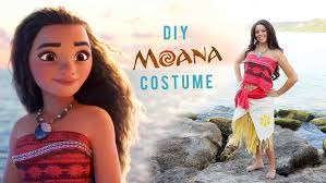 yet another cute and easy way to make moana costume for your little girl with fabric tassel grass skirt drop cloth hem tape wooden beads