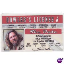 Lebowski States Bridges Bowler Jeff License Fun The Drivers Novelty United On Big 64088810 Ebid