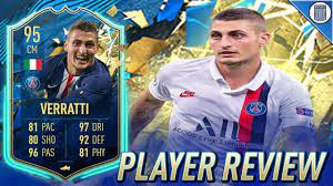 95 TEAM OF THE SEASON SO FAR VERRATTI PLAYER REVIEW! TOTSSF VERRATTI - FIFA  20 ULTIMATE TEAM - YouTube
