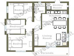 Small 3 Bedroom House Cheap 3 Bedroom House Plan Small 3 Bedroom House Floor Plans Tiny