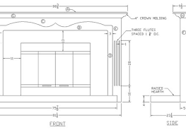 how to build a fireplace mantel surround woodworking