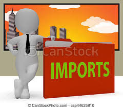 Imports Business Imports Folder Representing Business Freight 3d Rendering