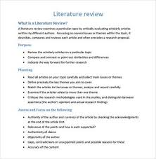 Review Summary images Thesis literature review example