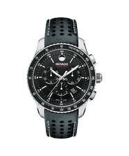 movado mens watch series 800 new movado series 800 chronograph 2600096 black dial leather band mens watch