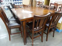 Casual Country Dinette Room With 9 Pieces Brown Color Square
