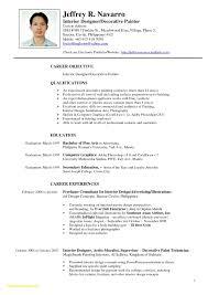 Interior Design Resume Templates Impressive Sample Resume For Junior Interior Designer Valid Fine Artist Resume