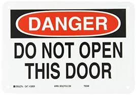 brady 22525 plastic door sign 7 x 10 legend do