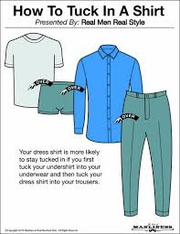 In The Shirt How And When To Tuck In Your Shirt The Art Of Manliness
