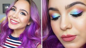 pastels and blue spring makeup tutorial