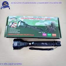 Đèn pin Police vỏ kim loại siêu sáng siêu bền K9 - Đèn pin Thương hiệu No  brand