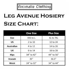 Avenue Plus Size Chart Avenue Tights Size Chart