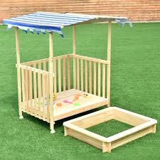 badger basket covered convertible cedar sandbox with canopy and 2 bench seats canada