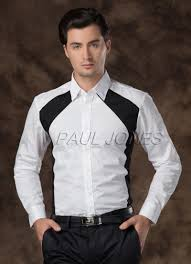 Mens Bedroom Wear Fashion Mens Luxury Casual Formal Italian Style Dress Shirts Tops
