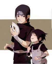 Sasuke, Itachi, Uchiha brothers, cute, Anbu, mask, young, childhood; Naruto  | Sasuke and itachi, Itachi uchiha, Itachi