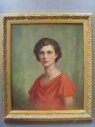 oil painting portrait of averil kingston beresford