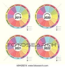 Circle Calendar Template Calendar 2019 2020 2021 And 2022 Calendar Template