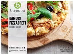 Rund ø 30cm Flammkuchenbr Pizzabrett Aus Bambus
