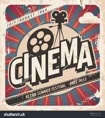 Movie Flyer Retro Cinema Poster Vector Movie Ad Stock Vector 24 19