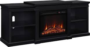 ameriwood home manchester electric fireplace stand flat panel for tvs black kitchen dining pre lit candles
