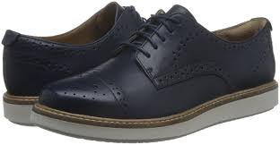 clarks women s glick shine oxfords blue navy leather shoes lace up flats clarks nature