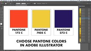 Adobe Pantone Color Chart How To Choose Pantone Numbers In Adobe Illustrator