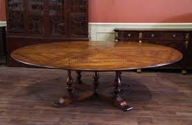 Jupe Table Extra Large Round Solid Walnut Round Dining Table - Oversized dining room tables
