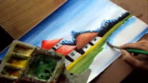 how to paint a village scenery in water color 28 collection of std 9 drawing book