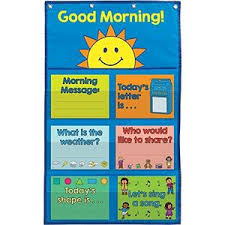 What Is Pocket Chart Really Good Stuff 904134 Good Morning Day Starter Pocket Chart