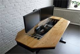 home office computer 4 diy. Luxury Wood Desk Idea Inspiring Marvelous Office Decorating With Diy Wooden Home Computer Reception Design Organizer 4