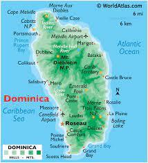 Dominica — domínica o dominica en el lenguaje eclesiástico, 'domingo' y 'escrituras que se leen en el oficio de cada domingo'. Dominica Maps Facts World Atlas