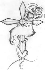 clip black and white easy drawings best 25 cross drawing ideas on cross tattoo