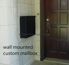custom wall mount mailbox. Fine Mount Simple Black Wall Mounted Mailbox Wall Mounted With Custom Mount Mailbox