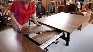 How Amish Dining Table Leaf Storage Works YouTube - Amish oak dining room furniture