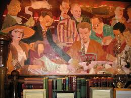 the painting at the algonquin hotel above the round table that s dorothy on the left