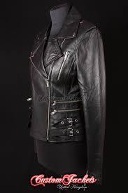 details about las catwalk black rockstar rock biker style real leather jacket