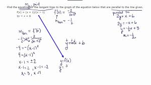 equations of tangent lines parallel to given line